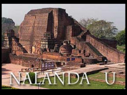 Remains of the destroyed Nalanda University