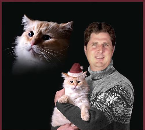Washington State Coach Mike Leach in the greatest Christmas card ever