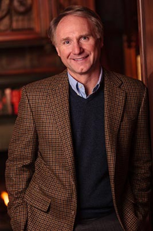 Photo of bestselling author Dan Brown.