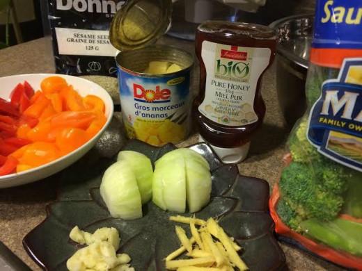 Chicken Stir-fry ingredients