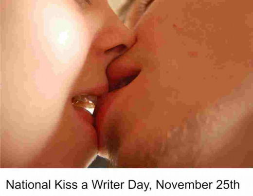 National Kiss a Writer Day November 25th