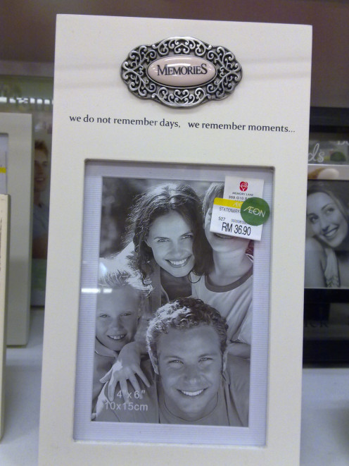 Photo frames are cheap and holds great memories for dad