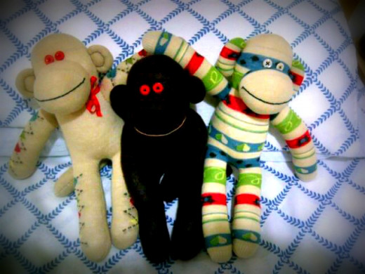 Sock Monkeys for Happiness