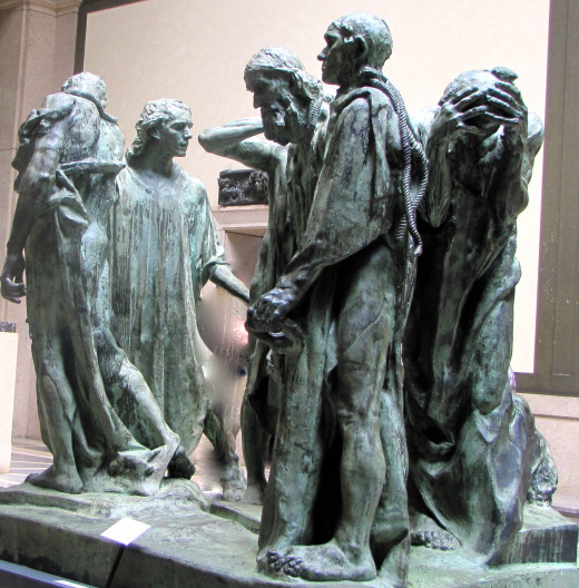 Monument to the Burghers of Calais by Auguste Rodin in 1889 at the Rodin Museum in Philadelphia, PA.