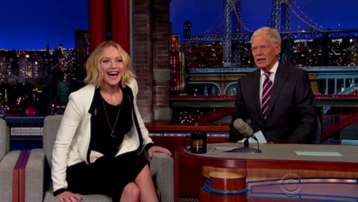 Jennifer Lawrence, star of Hunger Games, hams it up with Dave