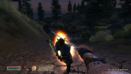 The ability to use magic with your weapon drawn is the most missed part of Oblivion's combat.