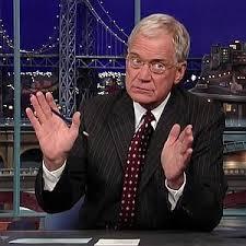 Letterman ignites a funny joke