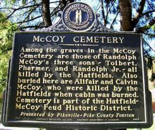 The McCoy Cemetery is located on the top of the hill behind the McCarr Post Office on private property.