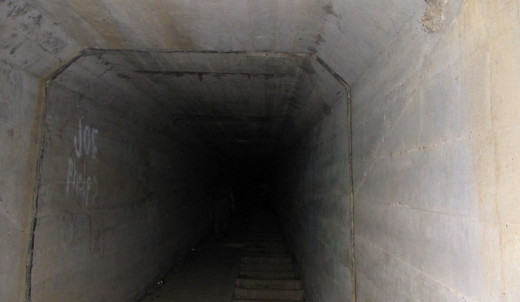 Here is a photo from inside the death tunnel or body chute at Waverly Hills Sanatorium. Screams, pleas for help and strange laughter are heard here in the death tunnel.