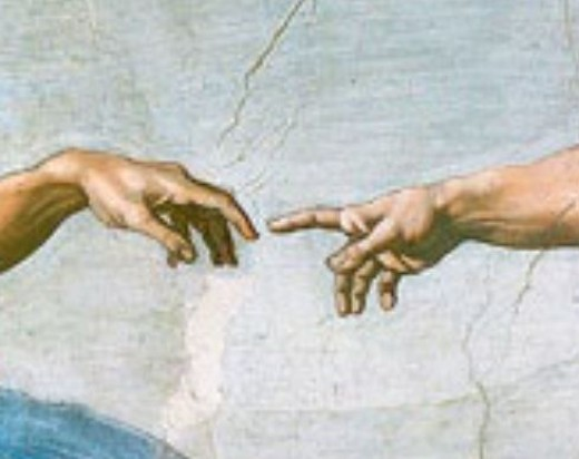 "Detail from ""The Creation of Adam"" in the Sistene Chapel"
