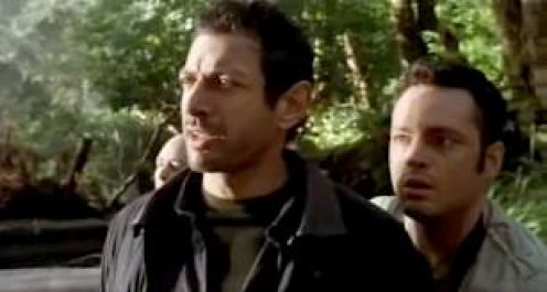 Jeff Goldblum and Vince Vaughn both did fine acting jobs in this prehistoric adventure film. They must navigate the jungle and escape with their heads on their shoulders.