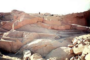 Granite Quarry At Aswan, Egypt
