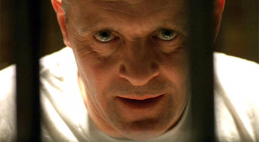"The fictitious character ""Hannibal Lechter"" was a serial killer, as portrayed by Anthony Hopkins in the film ""Silence of the Lambs."""