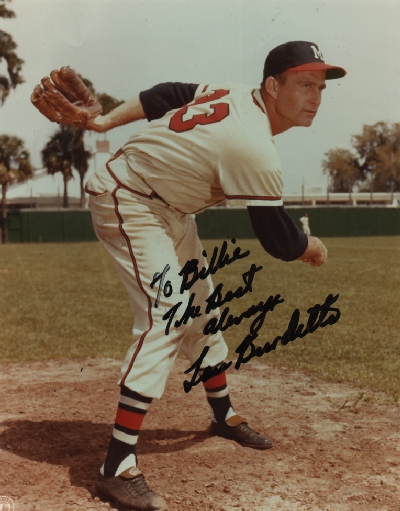 Lou Burdett, pitcher, Milwaukee Braves