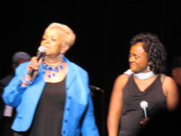 """Sheila, performed, """"Home"""" and her hit """"Move With Me."""" She wore a beautiful black dress from the """"Dare 2 Boutique."""""""
