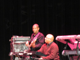Members of the Rick Williams jazz band, were brilliant on percussion and drums.