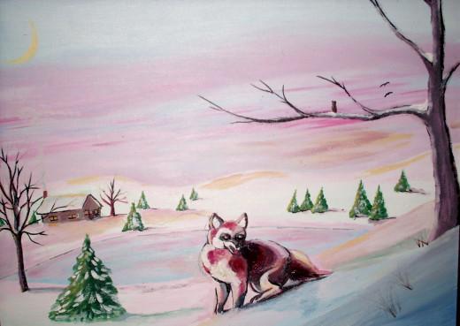 A Christmas fox...