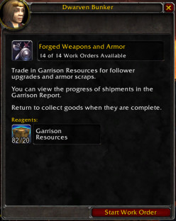 Farming Garrison Resources in World of Warcraft (WoW)