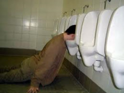 """How Long You Can Lay Your Head in The Toilet or Urinal Game"""