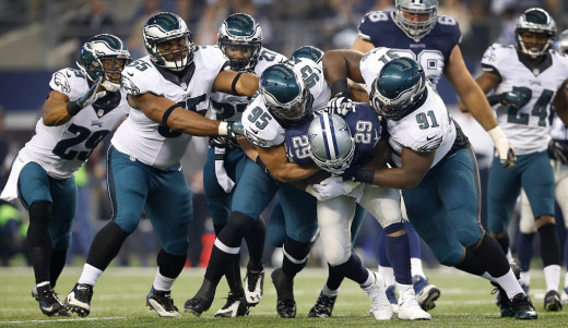 Philadelphia Eagles defense bottled up Dallas Cowboys RB DeMarco Murray all day