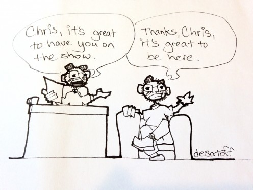 Sometimes, cartoonist and blogger Chris Desatoff likes to interview himself, and that is not weird or anything.