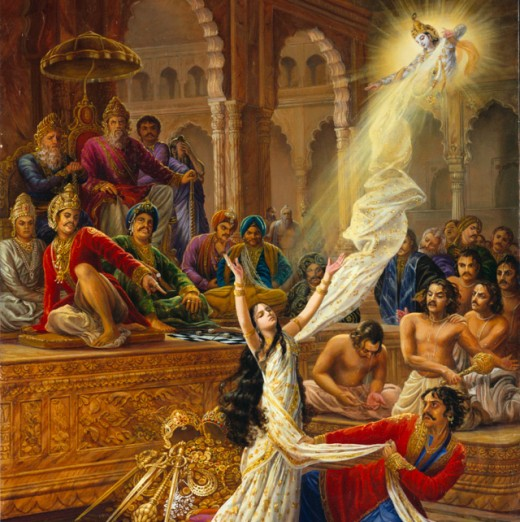 Only Lord Krishna could come to the rescue of polygamist Draupati.