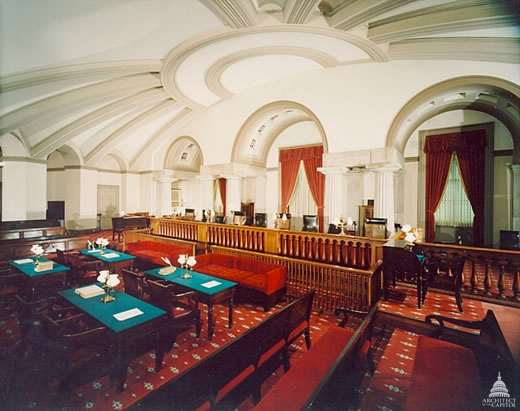 """""""The Old Supreme Court Chamber is the first room constructed for the use of the nation's highest judiciary body and was used by the Court from 1810 until 1860."""""""