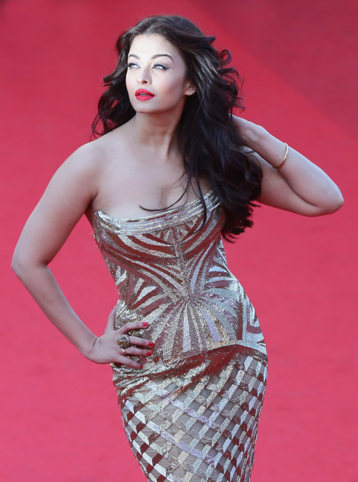 41 years old Aishwarya Rai in 2014 Cannes film festival