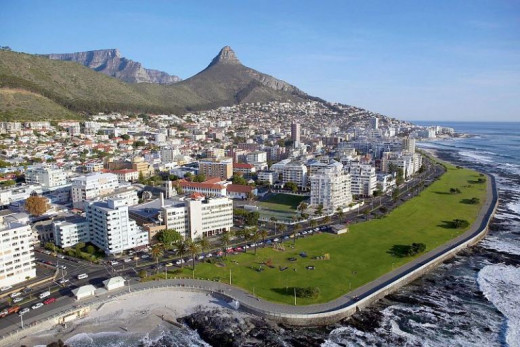 Aerial view on Sea Point, Cape Town, South Africa