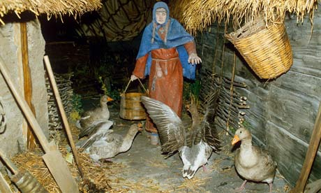Jorvik goose maid - better and more fearsome than guard dogs, the geese would let the whole town know if anything was amiss