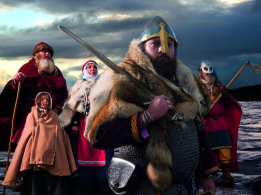 Jorvik settlers began as raiders, then when they liked what they saw they brought their kin - many married locally