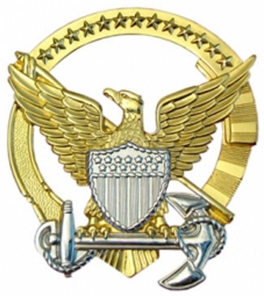 Coast Guard Command Afloat insignia pin
