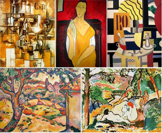 Picasso; Modigliani; Léger Braque; Matisse