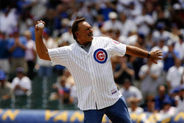 July 12, 2008, Butkus throws-out the first ball in the Cubs/Giants game at Wrigley Field