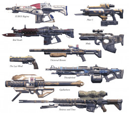 picture of all current exotic weapons available in destiny