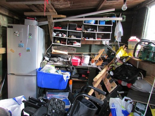 cluttered house