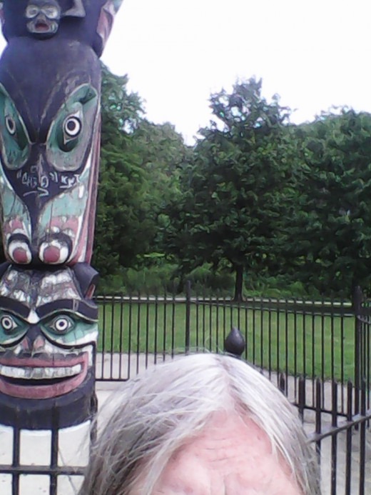 I have been wanting to have a selfie at the Totem for ages.  I finally did it!
