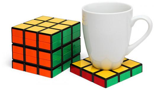 Rubiks Cube coasters