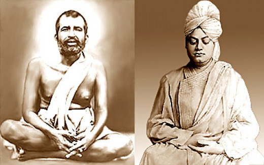 Ramakrishna Paramahamsa and Swami Vivekananda. They were rich in spirituality, but very poor in worldly wealth.
