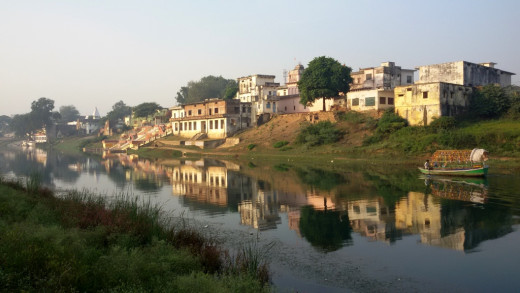 Picturesque Mandakini at Chitrakoot Dham