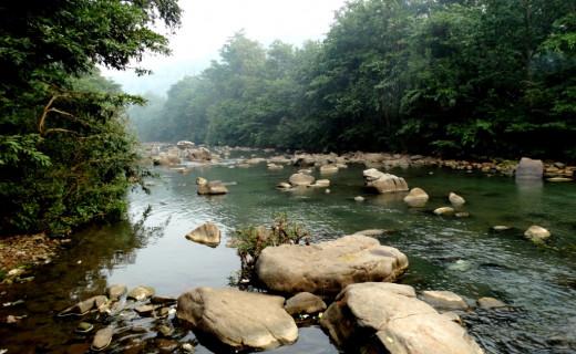 Mandakini river at Sati Anusuya Ashram