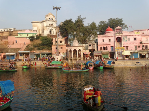 Ram Ghat from opposite bank of Mandakini 2