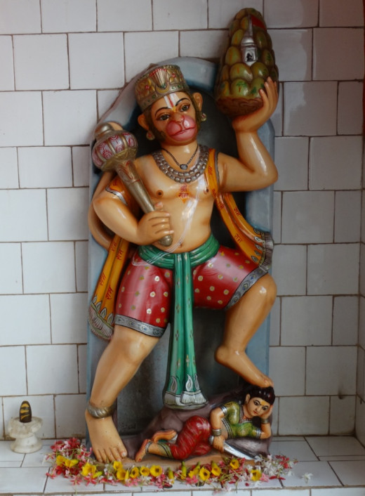 Hanuman idol at Ratneswar Rama temple