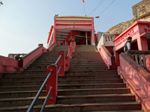 Stairs to Mattagajendra Shiva temple