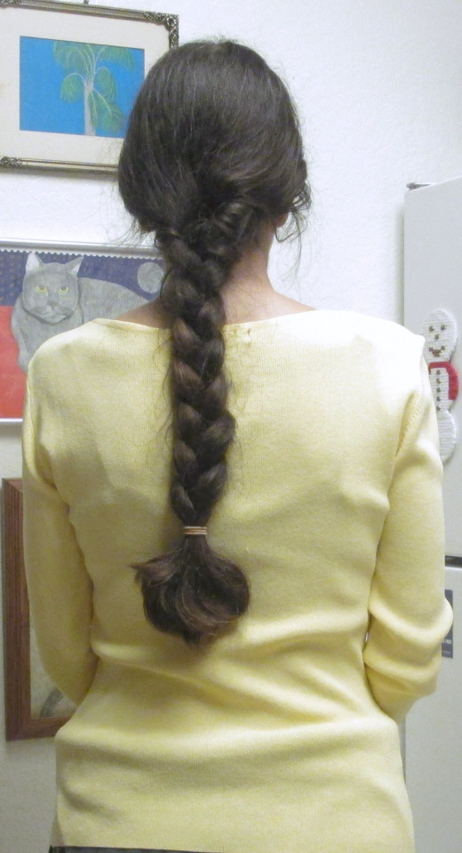 Long hair can be worn in a braid, which will create waves.