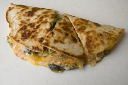 Here we have a cut up quesadilla.