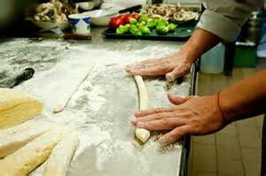 Rolling dough ready to cut