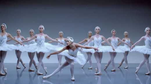 "A scene from Taylor Swift's ""Shake It Off"" music video"