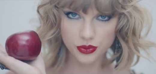 "Taylor Swift in ""Blank Space"" music video"
