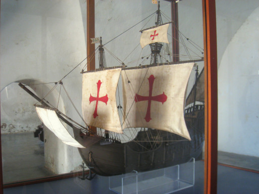 Santa María ship model displayed in Fort San Cristóbal, San Juan, Puerto Rico.